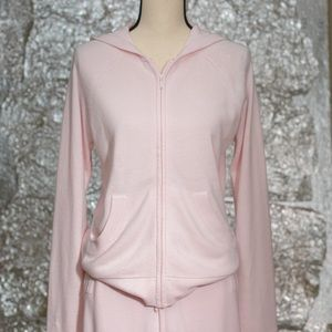 Basic Editiions pink hooded loungewear set